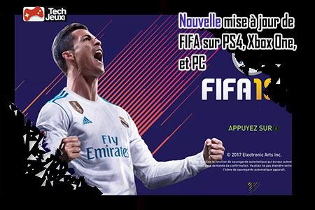 nouvelle mise à jour de FIFA 18