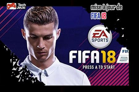 mise à jour de FIFA 18